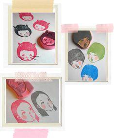 Ishtar Olivera - http://www.ishtarolivera.com/blog/2011/03/stamps-in-parts%e2%99%a5-sellos-en-parte/