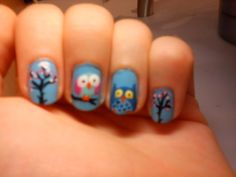 OMG how to owl nails! Yessss.