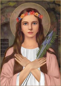 Act of Consecration to Saint Philomena (To be said on the day of every month. Illustrious Virgin and Martyr, St. Catholic Saints, Patron Saints, Religious Education, Religious Art, Maria Tattoo, Saints For Kids, Saint Dominic, Miracle Prayer, Mary And Jesus