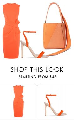 """Untitled #55"" by sharon-s-molnar on Polyvore featuring Karen Millen and Calvin Klein 205W39NYC"