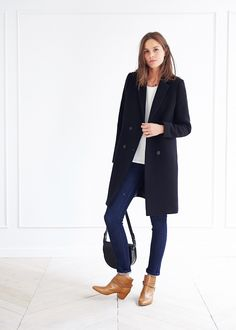 Manteau Johnson - Lookbook Automne Hiver  - www.sezane.com  #sezane #johnson #coat #lookbook