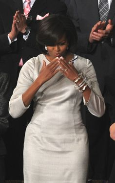 Beauty & Grace personified. The First Lady Of The United States Michelle Obama