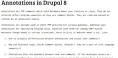 Annotations in #Drupal 8