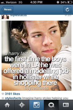 imagine Harry helping you find some clothes in Hollister.....