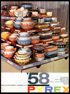 """OMGEEZZZ ... I HAVE DIED AND GONE TO PYREX HEAVEN !!! AND , '58 ... A LOT OF GOOD VINTAGE """"THINGS"""" WERE """"BORN"""" IN '58 !!! ;)"""