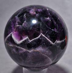 Chevron Amethyst 3.6 inch 2.45 lb Natural Crystal Sphere - Madagascar