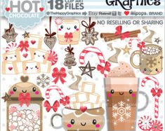 Christmas Tree Clipart, Christmas Graphics, Christmas Images, Chocolate Caliente, Hot Chocolate, Clipart Noel, Vector Clipart, Art Shed