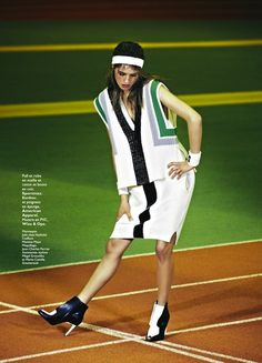 """Marathon Woman"": Julia Frauche by James Macari for Grazia France March 1, 2013"