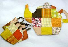 Hello, ReFabulous!: DIY Teapot Trivet and Coasters Tutorial