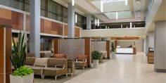 University of Missouri Health Care - Lobby and Garage Entries . Garage Entry, Local Hospitals, Missouri, Health Care, University, Architecture, Table, Commercial, Spaces