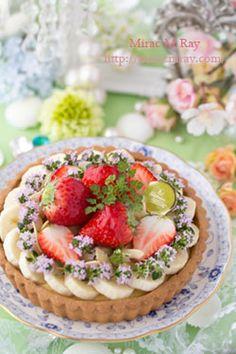 Strawberry & Banana Custard Cream Tart 苺バナナカスタードクリームタルト