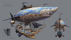 Airship, hyunbin An on ArtStation at https://www.artstation.com/artwork/nvQmr