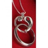 reunion heart memorial ring holder necklace wedding - Wedding Ring Holder Necklace