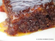 Le sticky toffee pudding (dattes et golden syrup)