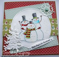 Dinkies 3 Cheers for Christmas snowmen clear stamp Christmas Snowman, Christmas Cards, Christmas Decorations, Christmas 2015, Christmas Ideas, Snowflake Cards, Snowflakes, Bugaboo Bee, Lawn Fawn Blog