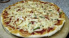 """""""DOMÁCÍ PIZZA"""" Vegetable Pizza, Quiche, Menu, Gouda, Vegetables, Menu Board Design, Vegetable Recipes, Veggie Food, Quiches"""