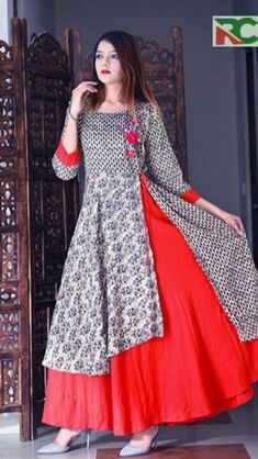 Frock Fashion, Abaya Fashion, Indian Fashion, Fashion Dresses, Frock For Women, Western Dresses, Churidar, Indian Designer Wear, Elegant Outfit