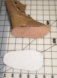 "Making Doll boots. Inspiration to make 18"" doll shoes. Also check out youtube videos by Scoresheet1"