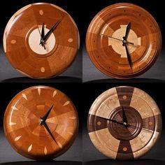 lathe turned clocks - Google Search