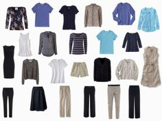 Navy and Beige Capsule Wardrobe gets the (Turquoise and Periwinkle) Blues