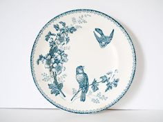 French Vintage blue and white ironstone staffordshire flow blue delph blue blue…