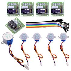 ELEGOO Relay Arduino Stepper Motor + Driver Board for Arduino 5 sets – Electronics&Accessories Arduino Motor, Schrittmotor Arduino, Stepper Motor Arduino, Arduino Wireless, Arduino Sensors, Arduino Programming, Arduino Board, Diy Electronics, Electronics Projects