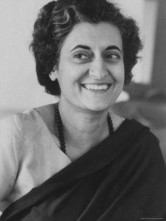 Indira Nehru Gandhi, India 1917 - 1984, politica, primo ministro dell'India, premio Lenin per la pace.