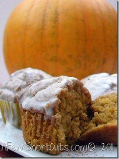 Pumpkin Cupcakes Health Desserts, Just Desserts, Delicious Desserts, Yummy Food, Dessert Healthy, Pumpkin Recipes, Fall Recipes, Holiday Recipes, Yummy Recipes
