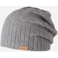 Barts Hudson Beanie Hat - Heather Grey ($25) ❤ liked on Polyvore featuring accessories, hats, beanies, headwear, men, heather grey, barts beanie, beanie cap hat, barts hats and beanie hat