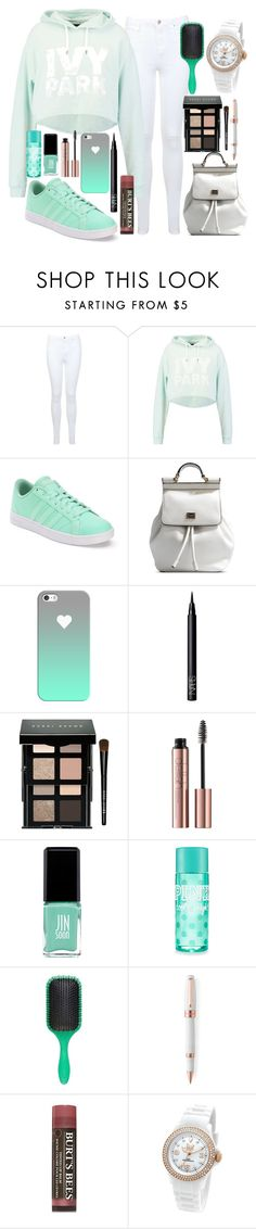 """""""back to school"""" by lipsy-look ❤ liked on Polyvore featuring Miss Selfridge, Ivy Park, adidas, Dolce&Gabbana, Casetify, NARS Cosmetics, Bobbi Brown Cosmetics, Jin Soon, Denman and Montegrappa"""