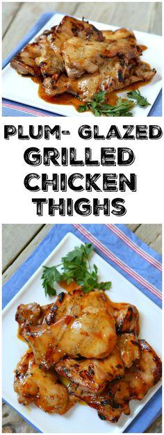Plum Glazed Grilled Chicken Thighs recipe