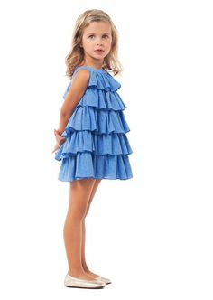 Nanos e-commerce photo retouch by White Retouch Little Girl Dresses, Girls Dresses, Summer Dresses, Cute Outfits For Kids, Pretty Outfits, Little Girl Fashion, Kids Fashion, Moda Blog, Kids Frocks