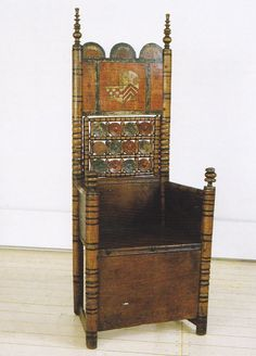 15th century example of a typically 11th-12th century chair