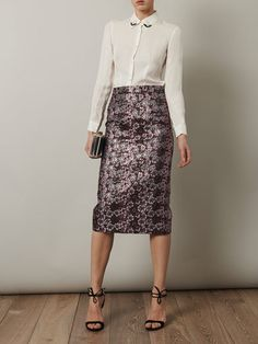 House of Holland metallic jacquard skirt and Opening Ceremony shirt