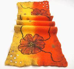 Scarf collar Magic Flower elegant hand felted eco by ArtMode, $60.00