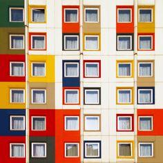 Color Istanbul by Yener Torun. Istanbul a colori by Yener Torun. Minimalist Architecture, Urban Architecture, Amazing Architecture, Contemporary Architecture, Orange Architecture, Minimalist Photos, Minimalist Photography, Building Facade, Building Design