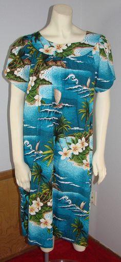 edfd563c1fa This item is unavailable. Hawaiian FashionNice DressesCute DressesBeautiful  DressesHawaii Fashion. Vintage Hilo Hattie Bright Blue ...