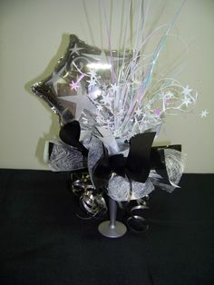 A silver centrepiece #christmas #centrepiece #cute www.astylishcelebration.com.au