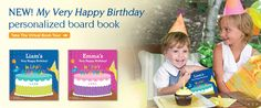 NEW! My Very Happy Birthday  Personalized Board Book  Personalized with your child's name and age!  www.iseeme.com