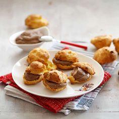 Brandteigkrapferln mit Maronicreme Foto: A. Pretzel Bites, French Toast, Muffin, Bread, Breakfast, Cake, Ethnic Recipes, Desserts, Food