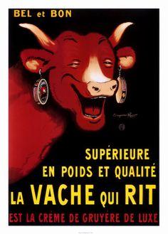La Vache qui rit Vintage Poster