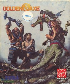 Golden Axe Box Art - Amiga