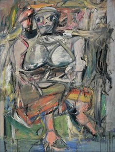 Willem de Kooning. (American, born the Netherlands. 1904-1997). Woman, I. 1950-52. Oil on canvas, 6? 3 7/8? x 58? (192.7 x 147.3 cm). Purchase. © 2008 The Willem de Kooning Foundation / Artists Rights Society (ARS), New York. moma.org