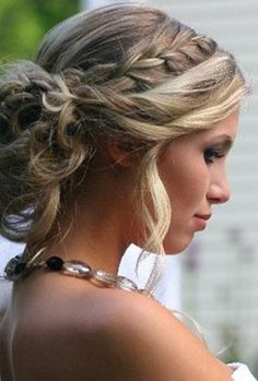 wedding hairstyles for long hair | Braid Updo Hair Styles for Wedding, Prom | Popular Haircuts