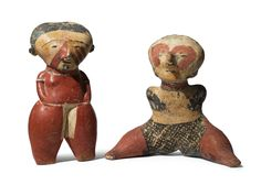 Two CHINESCO FIGURES, Type C, protoclassic, ca. 100 B.C. - A.D. 250 | Lot | Sotheby's