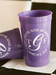 personalized cups great gift for guests coming to your destination wedding