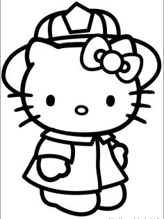 Printable Hello Kitty Coloring Pages For Kids. When we first heard Hello Kitty, the first one that occurred in our minds was a cute cat character that was very Hello Kitty Drawing, Hello Kitty Cartoon, Hello Kitty Art, Hello Kitty Birthday, Hello Kitty Colouring Pages, Cat Coloring Page, Cartoon Coloring Pages, Coloring Books, Free Coloring