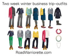 two week winter packing outfits