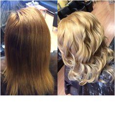 one day brown to full blonde.  Instagram: brishaughnessy www.briannashaughnessy.com