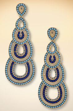 Tiered beaded earrings #BostonProper #Boho #Jewelry #SS15